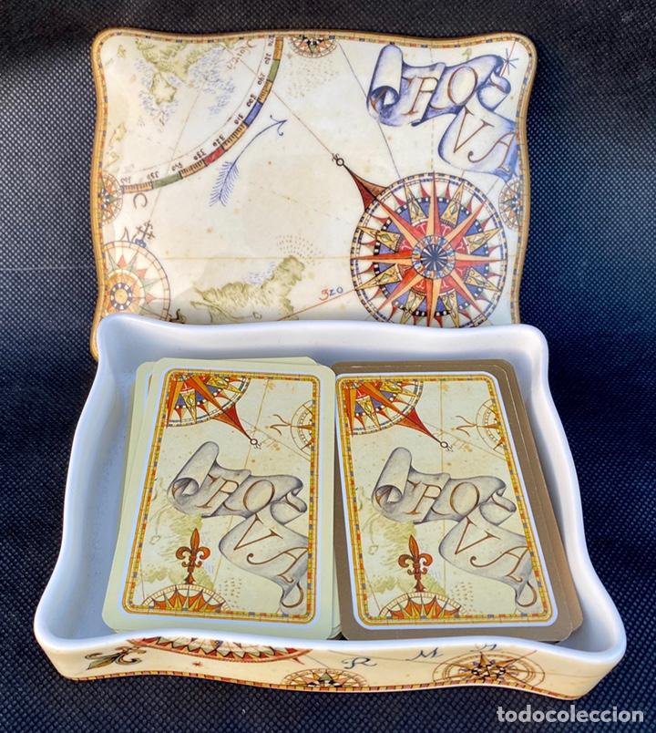 WEDGWOOD. CAJITA DE BAJARAS DE PÓKER WEDGWOOD (Antigüedades - Porcelanas y Cerámicas - Inglesa, Bristol y Otros)