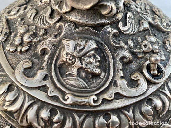 Antigüedades: Lámpara candelabro de broce plateado antigua - Foto 17 - 222185197