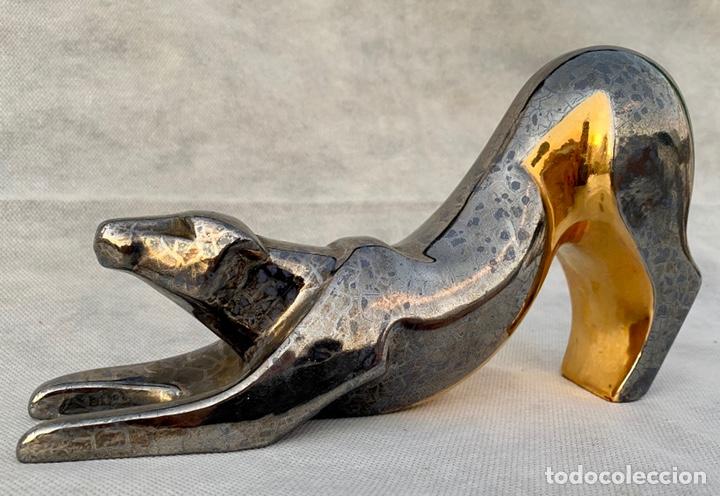 MARCO GINER. FIGURA GUEPARDO MARCO GINER (Antigüedades - Porcelanas y Cerámicas - Otras)