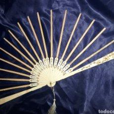 Antigüedades: PRECIOSO VARILLAJE EN HUESO TALLADO 1870-1890S. Lote 222202992