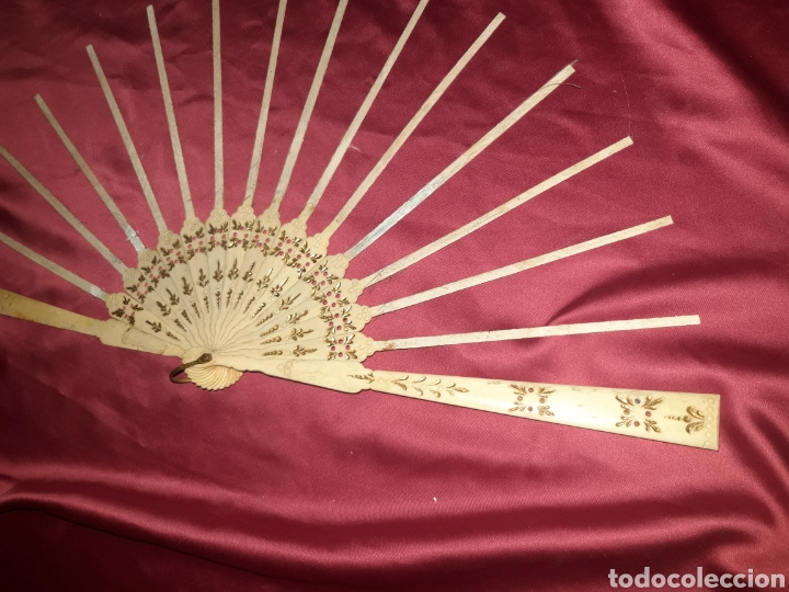 Antigüedades: PRECIOSO VARILLAJE EN HUESO 1890-1900s - Foto 9 - 222214408