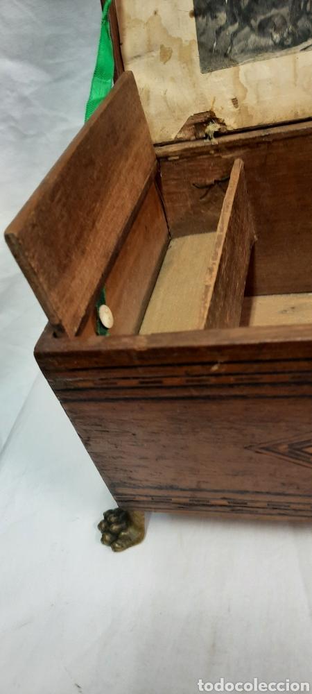 Antigüedades: Caja carlos IV siglo XIX con marqueteria - Foto 8 - 222215080