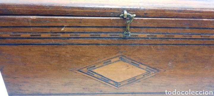 Antigüedades: Caja carlos IV siglo XIX con marqueteria - Foto 11 - 222215080