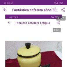 Antigüedades: PRECIOSA CAFETERA. Lote 222225337