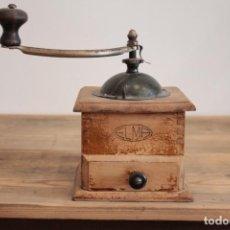 Antigüedades: MOLINILLO DE MADERA MARCA ELMA. Lote 222227113
