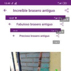 Antigüedades: PRECIOSO BRASERO ANTIGUO. Lote 222230991