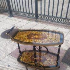 Antigüedades: IMPRESIONANTE CAMARERA FRANCESA MADERA ÉBANO PINTADO A MANO CIRCA 1850. Lote 222233386
