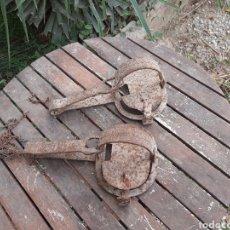 Antigüedades: PAREJA DE ANTIGUOS CEPOS DE CAZA-SOLO PARA EXPONER O COLECCIONAR. Lote 222240853