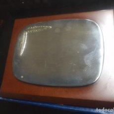 Antigüedades: PLACA PARA GRABAR DE ALPACA. Lote 222246965