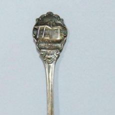 Antigüedades: BONITA CUCHARA EN RELIEVE. PLATA??. MARCAS, SELLOS. W. Lote 222250018