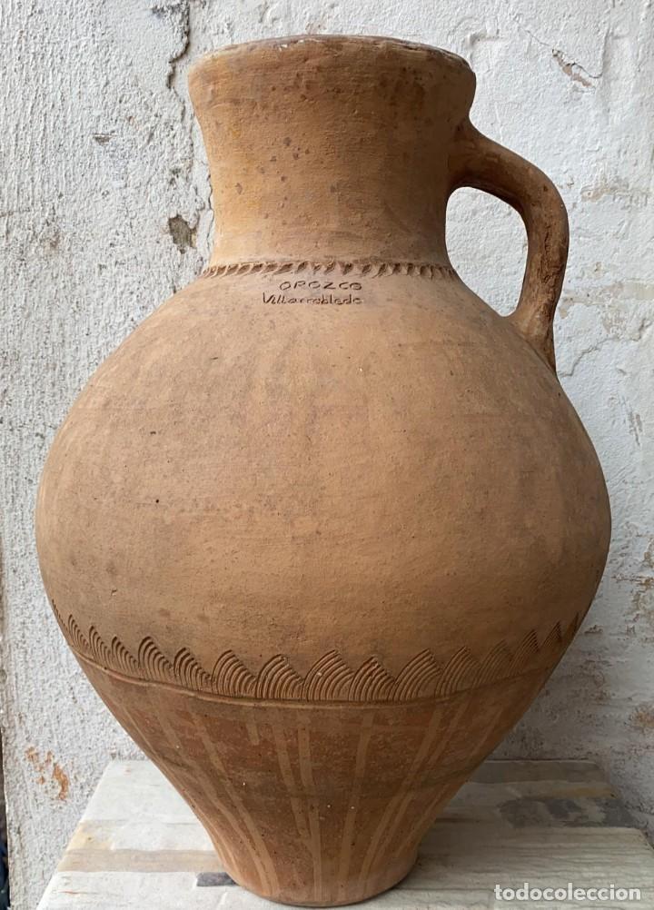 CANTARO ANTIGUO EXTRAORDINARIO DE OROZCO DE VILLARROBLEDO DE 49 CMS. DE ALTURA MUY ROBUSTO (Antigüedades - Porcelanas y Cerámicas - Otras)