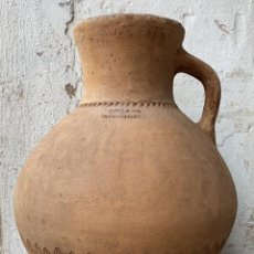 Antigüedades: CANTARO ANTIGUO EXTRAORDINARIO DE OROZCO DE VILLARROBLEDO DE 49 CMS. DE ALTURA MUY ROBUSTO. Lote 222258402