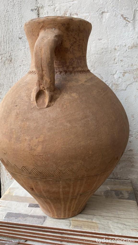 Antigüedades: CANTARO ANTIGUO EXTRAORDINARIO DE OROZCO DE VILLARROBLEDO DE 49 CMS. DE ALTURA MUY ROBUSTO - Foto 4 - 222258402
