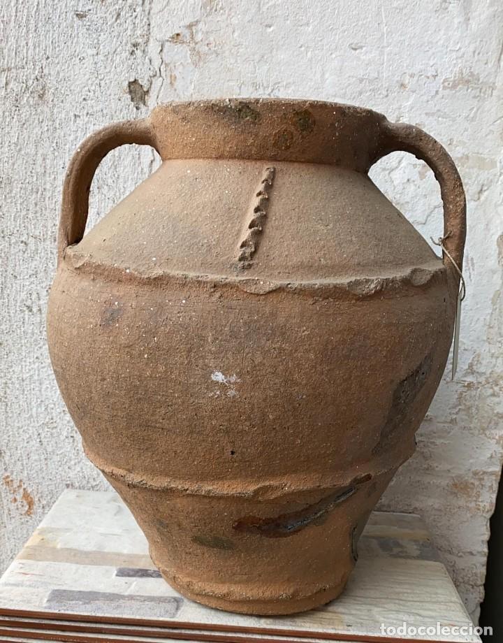 OLLA ANTIGUA DE PERERUELA PUEBLO DE ZAMORA CON USO DE 39 C,S- DE ALTO (Antigüedades - Porcelanas y Cerámicas - Otras)