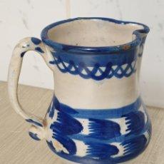 Antigüedades: JARRA DE VINO CERÁMICA VIDRIADA EN AZUL COBALTO. Lote 222262800
