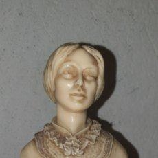 Antigüedades: PRECIOSA ESCULTURA ANTIGUA TALLADA A MANO DEL BUSTO DE LA FAMOSA ESCRITORA CHARLOTTE BRONTE.. Lote 222267013