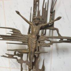 Antigüedades: CRISTO DE DALÍ EN BRONCE 49CM. Lote 222278830
