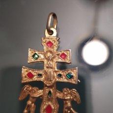 Antigüedades: MEDALLA CRUZ DE CARAVACA 35 X 22MM. Lote 222286232