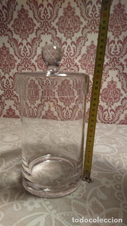Antigüedades: Antiguo tarro / bote de cristal transparente de colmado o tienda de los años 20-30 - Foto 2 - 222286516