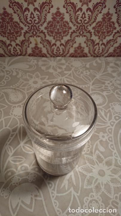 Antigüedades: Antiguo tarro / bote de cristal transparente de colmado o tienda de los años 20-30 - Foto 5 - 222286516