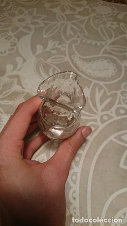 Antigüedades: Antigua vinagrera / aceitera / convoy de cristal soplado a mano años 20-30 - Foto 6 - 222288071