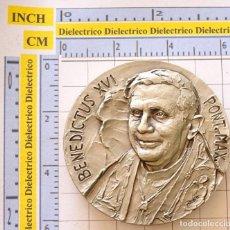 Antigüedades: MEDALLA MEDALLÓN RELIGIOSO. VALENCIA 2006 PAPA BENEDICTO XVI ENCUENTRO DE LAS FAMILIAS. 180GR. Lote 222290288