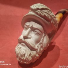 Antigüedades: PIPA DE ESPUMA DE MAR CABEZA TURCO CON BONITA BOQUILLA. Lote 222296705