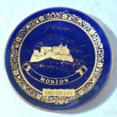 Antigüedades: PLATO DECORATIVO MONZON, PAN DE ORO, 10 CMS. Lote 222305803