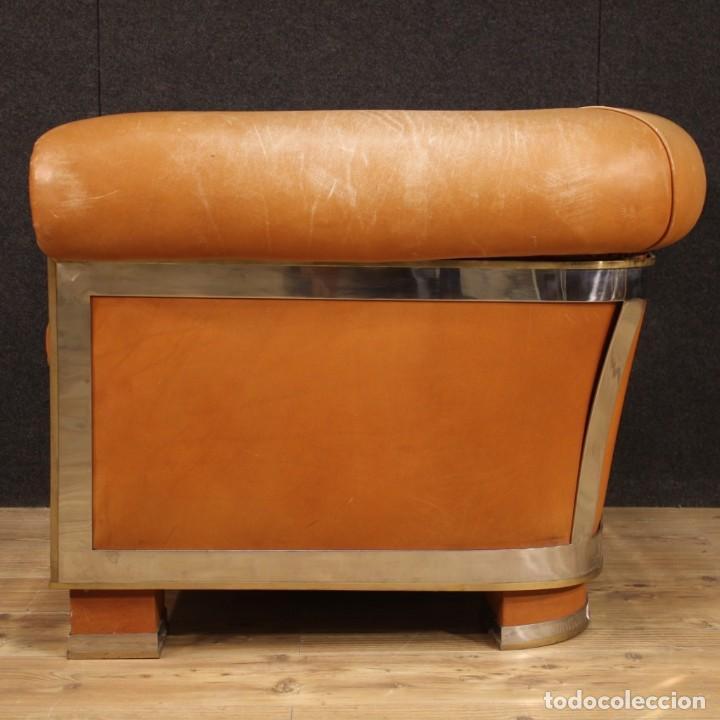 Antigüedades: Sillón de diseño italiano en piel - Foto 5 - 222316676