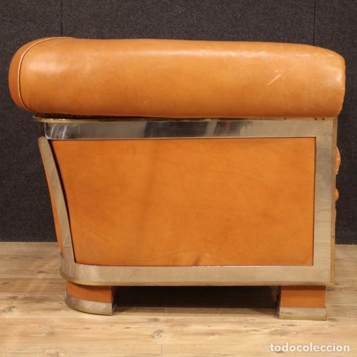Antigüedades: Sillón de diseño italiano en piel - Foto 7 - 222316676