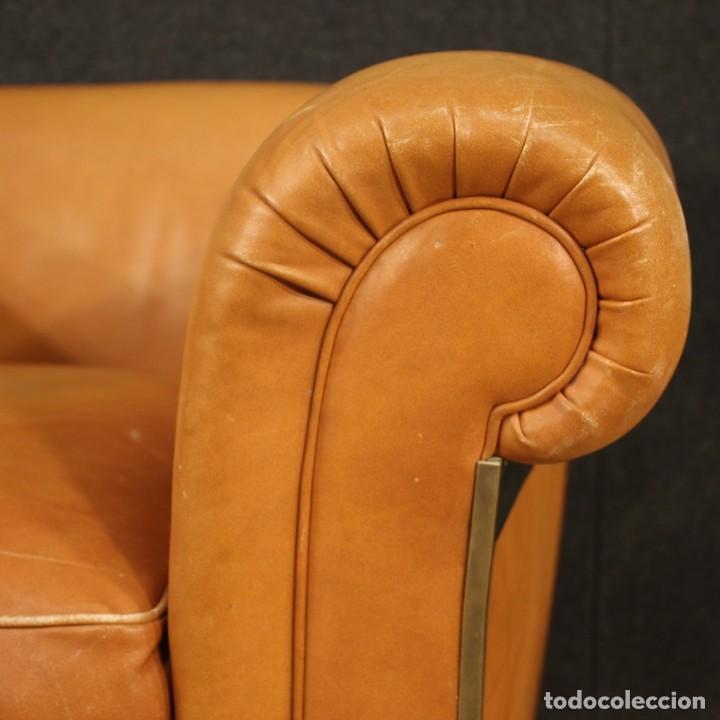 Antigüedades: Sillón de diseño italiano en piel - Foto 10 - 222316676