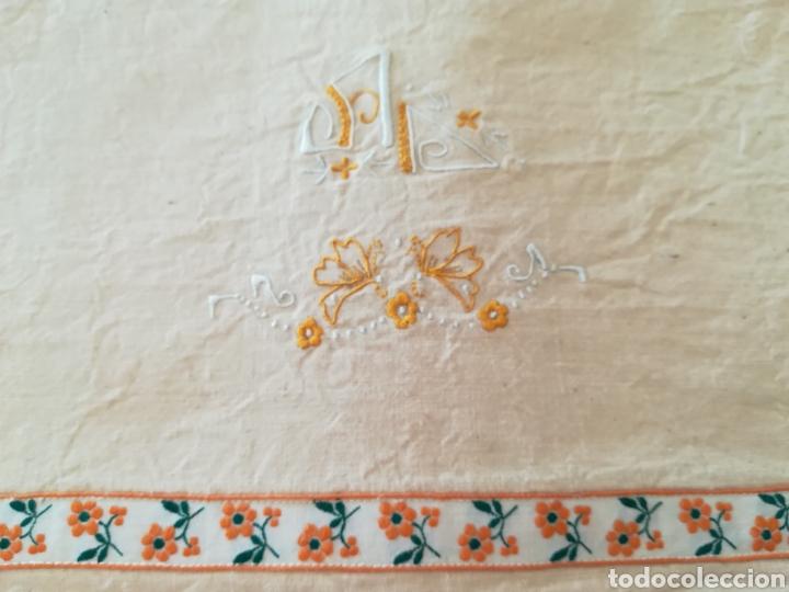 Antigüedades: Antiguo juego de cama algodón . - Foto 2 - 222325147