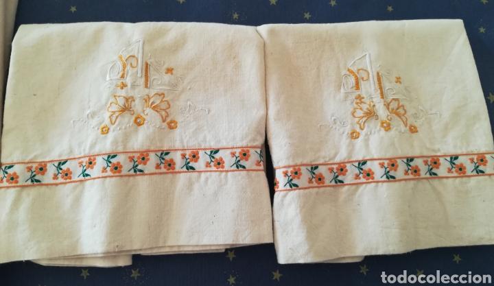 Antigüedades: Antiguo juego de cama algodón . - Foto 3 - 222325147