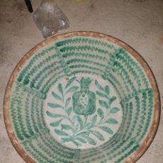 Antigüedades: PRECIOSO LEBRILLO FAJALAUZA SIGLO XIX. 80 CM. Lote 222328435