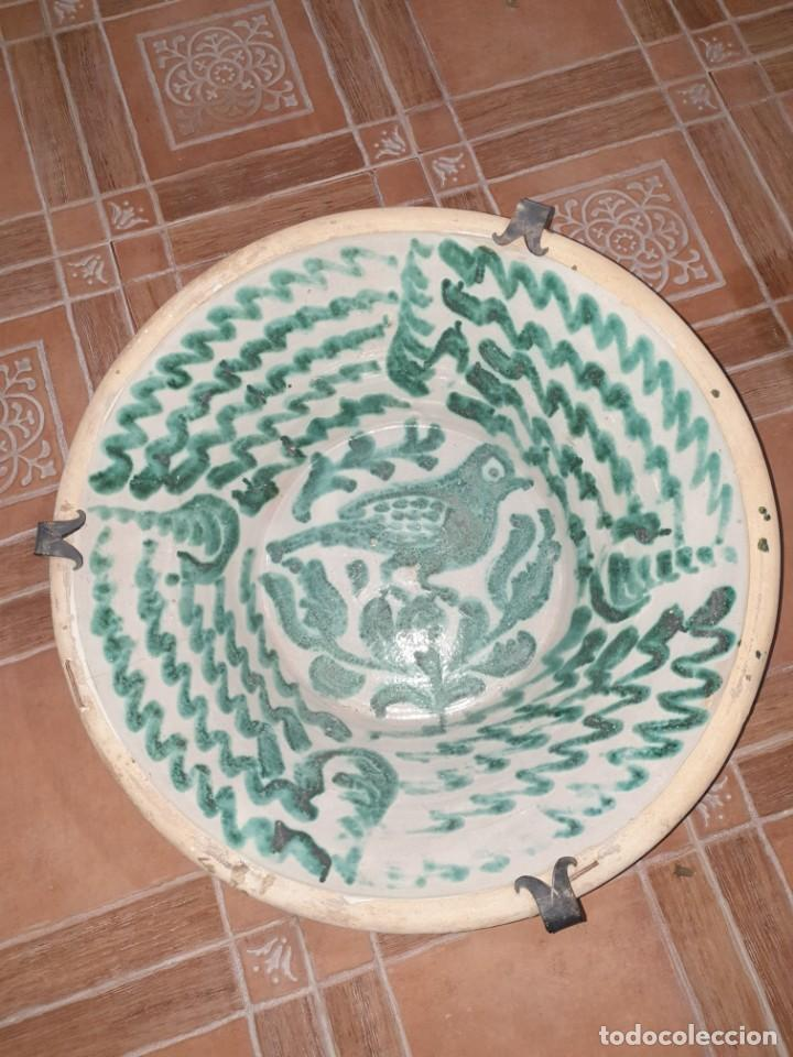 Antigüedades: Fantástico lebrillo fajalauza siglo xviii/ xix - Foto 2 - 222329120