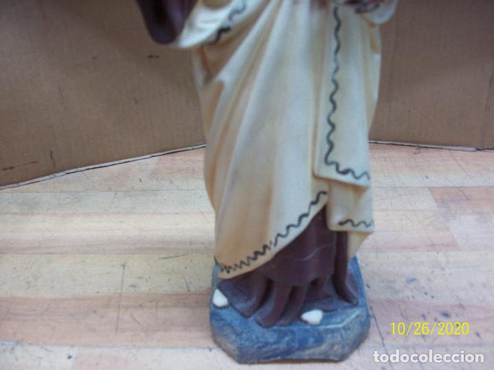Antigüedades: ANTIGUA ESTATUA DE LA VIRGEN DEL CARMEN - Foto 3 - 222330630