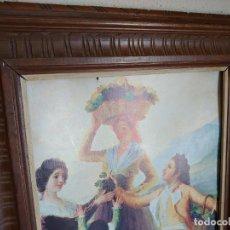 Antigüedades: ANTIGUO MARCO MADERA TALLADA. Lote 222331857