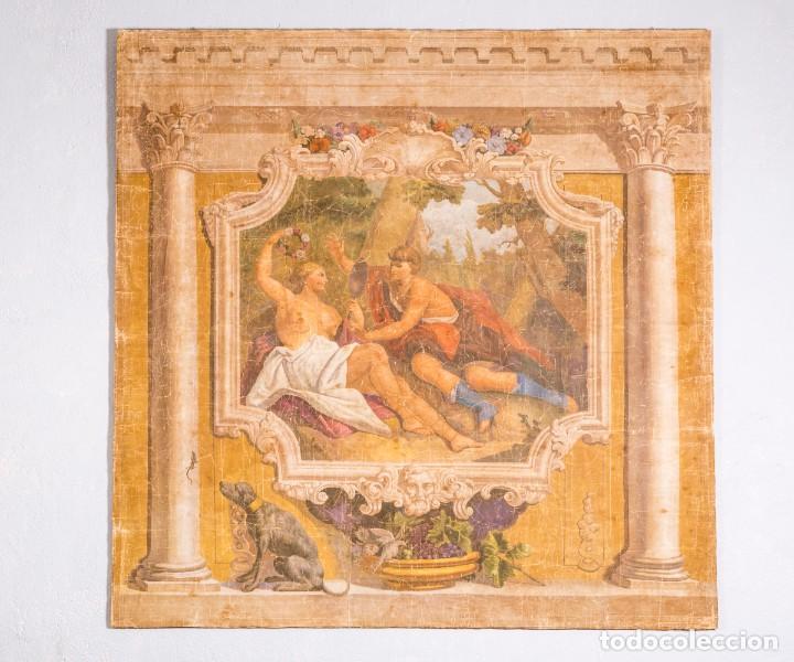 Antigüedades: Tela Decorativa Romantique - Foto 2 - 222348720