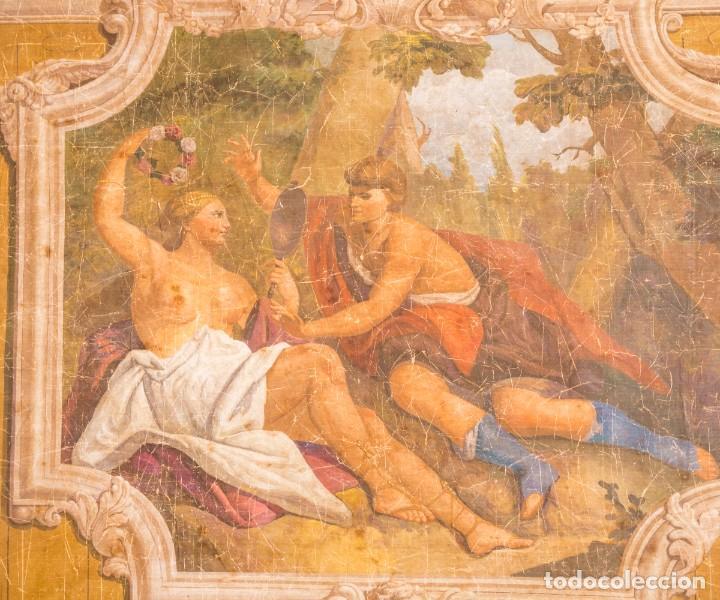 Antigüedades: Tela Decorativa Romantique - Foto 3 - 222348720