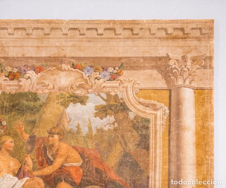 Antigüedades: Tela Decorativa Romantique - Foto 4 - 222348720