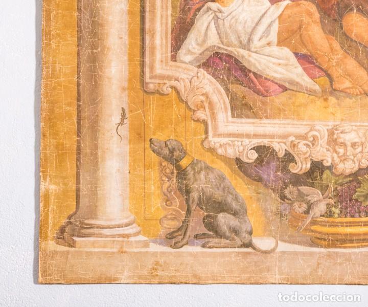 Antigüedades: Tela Decorativa Romantique - Foto 5 - 222348720