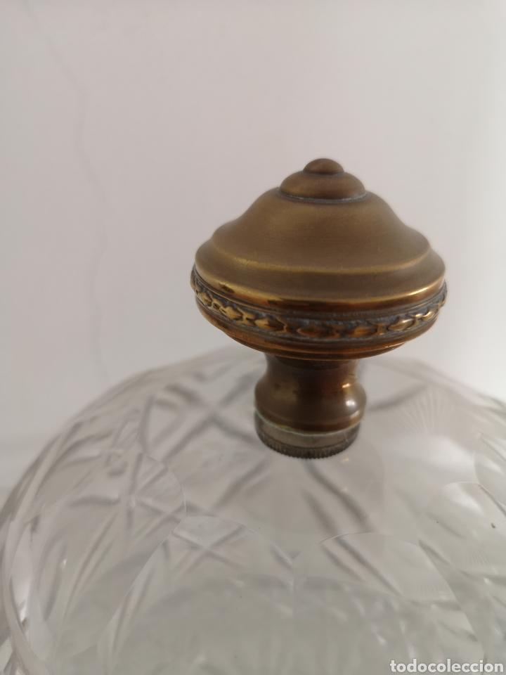 Antigüedades: Preciosa y antigua Tartera - quesera de cristal de bohemia tallado - Foto 5 - 222351192