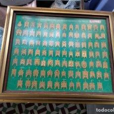 Antigüedades: CUADRO INSIGNIAS 94 ESTANDARTES SIMPECADOS DE LAS HERMANDADES ROCIERAS. VIRGEN ROCIO.. Lote 222361455