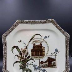 "Antigüedades: PLATO OCTAGONAL WALLIS GIMSON & Cº 1884 SERIE "" THE WORLD"". Lote 222373275"