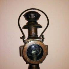 Antigüedades: FAROL MUY ANTIGUO - FERROCARRIL- NAVEGACION- CARRUAJES - ENVIO CERTIFICADO INCLUIDO.. Lote 222374220