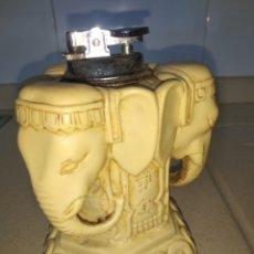 Antigüedades: PRECIOSO ELEFANTE ASIATICO CON ENCENDEDOR. Lote 222377050