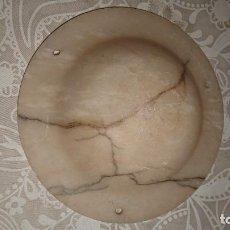 Antigüedades: ANTIGUA TULIPA DE LÁMPARA CENTRAL DE ALABASTRO TALLADO AÑOS 20-30 ESTILO MODERNISTA. Lote 222378393