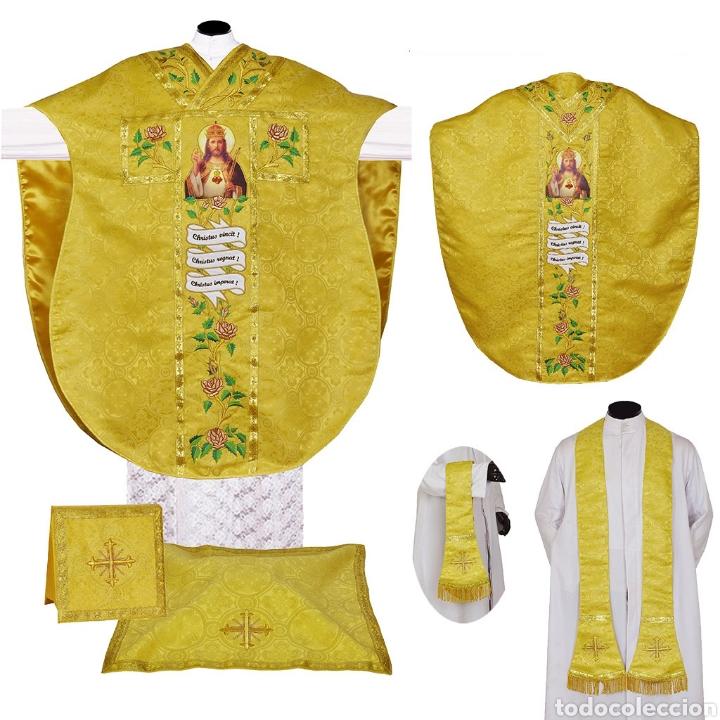CASULLA CRISTO REY (Antigüedades - Religiosas - Casullas Antiguas)