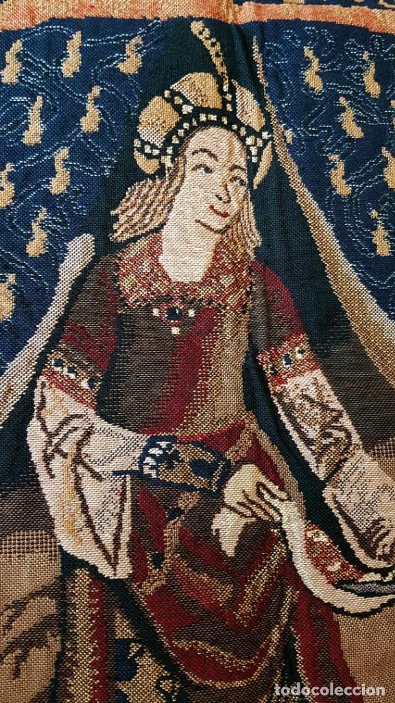 Antigüedades: Tapiz, Dama y el unicornio. 176x132cm - Foto 3 - 222386743