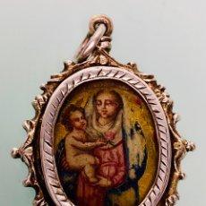 Antiguidades: RELICARIO COLGANTE EN PLATA SIGLO XVIII - RELIQUIA. Lote 222389393